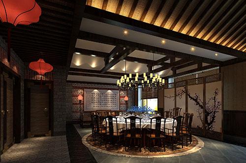 珠海南粤中式餐馆设计——轻嗅千年文人的杯樽酒香