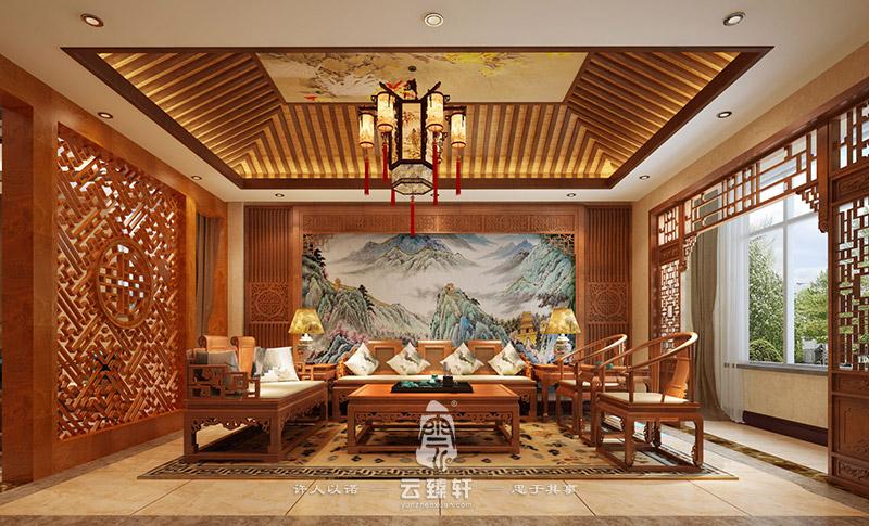 中式家具展厅设计效果图