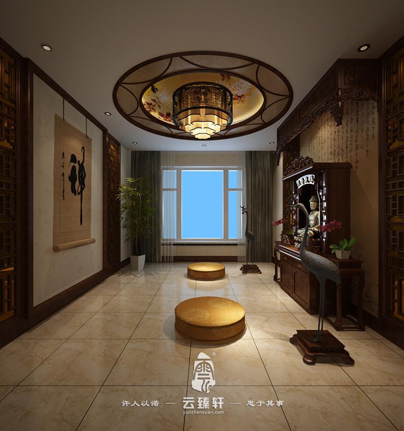 500平新中式红木会所装修设计图
