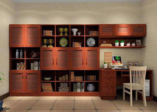 近两年,随着冰冷的极简主义和繁复的欧风设计的逐渐落伍,家居装修的复古潮流正悄然风行起来。将古典语言以现代手法诠释,注入中式的风雅意境,使空间散发着淡然悠远的人文气韵,这就是目前广受欢迎的新中式风格。其中,家居装修里面新中式书柜在当下由中式设计公司设计出来的效果,沿袭了中国古典家具的手法,但是结合现代手法设计出来大众比较喜欢的新书柜。