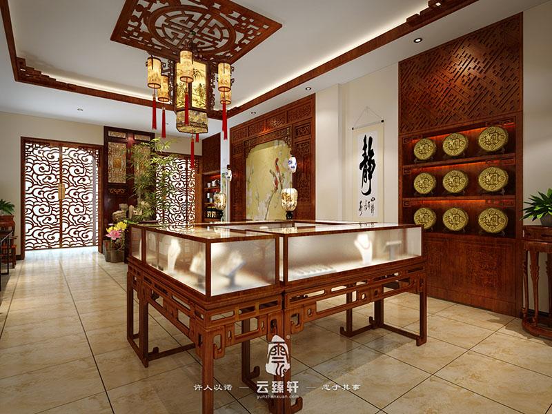 设计齐齐哈尔红木家具展厅——中堂的摆设