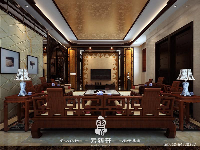 简约中式客厅装修样板间