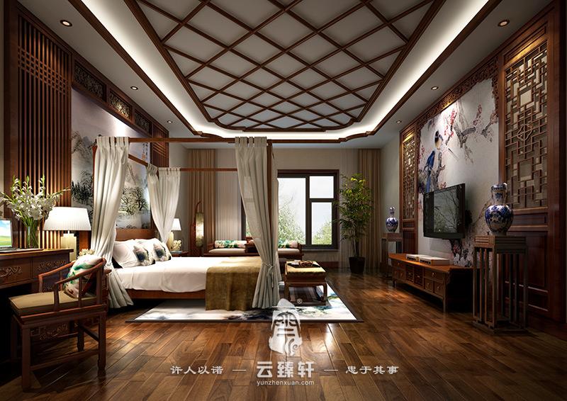 复式楼中式装修效果图_北京云臻轩中式设计机构