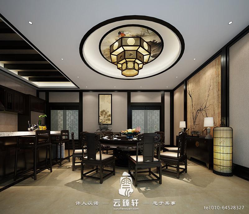 简约中式餐厅效果图