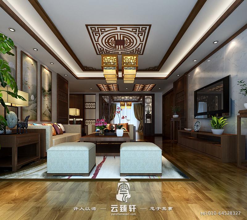 简约中式客厅效果图_简约中式客厅效果图_北京云臻轩中式设计机构