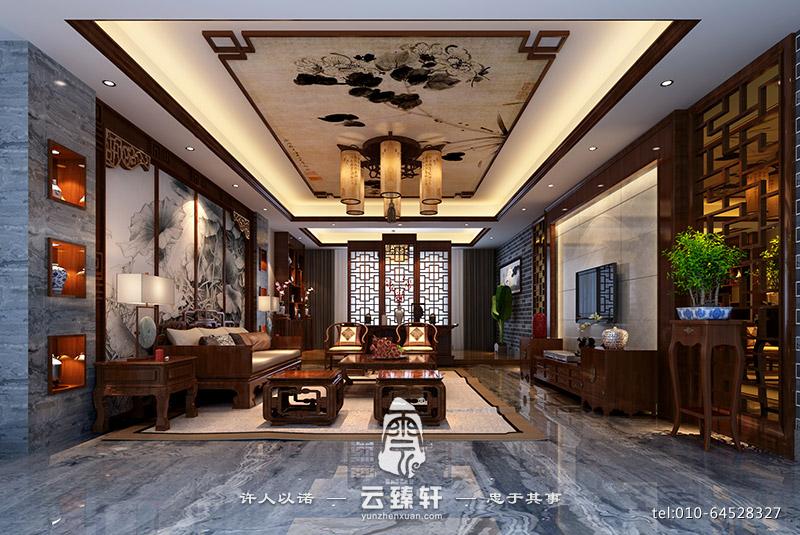 简约中式客厅效果图_北京云臻轩中式设计机构