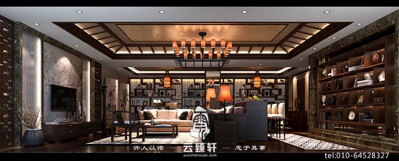 簡約中式客廳效果圖_北京云臻軒中式設計機構