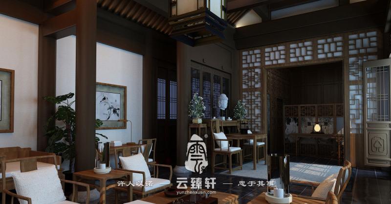 新中式四合院装修效果图