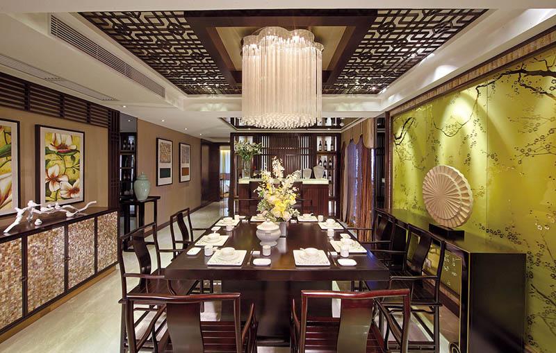 中式三居室装修案例实景图