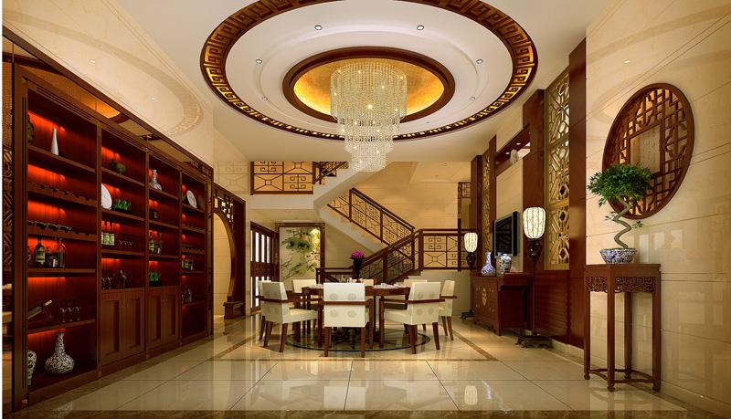 新中式风格别墅效果图设计