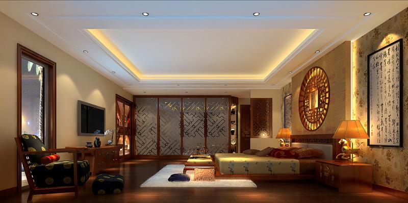 新中式风格别墅效果图设计_北京云臻轩中式设计公司