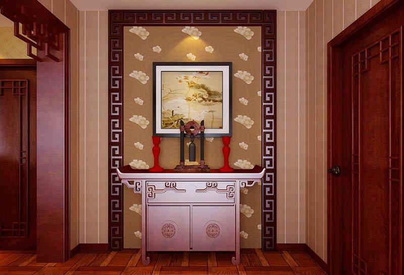 """所谓玄关,原来是指佛教的入道之门,后来就演变成了泛指厅堂的外门。经过长期的约定俗成,现在所提到的玄关,主要指房门入口的一个区城。 设玄关的目的主要有3个: 1、保持主人的私密性:也躭是避免客人一进门就对整个居室有全盘的""""了解"""",通常在进门处用木旗或玻璃作隔断。以便在视觉上速挡一下。 2、有较强的装饰作用:如果将玄关中式设计的简单、淡雅一些,当客人从繁杂的外界进入这个家庭的时候,进门第一眼者到的是玄关,这往往能提升客人对居室的良好印象,也就是说,玄关在房间装饰中起到""""画龙"""