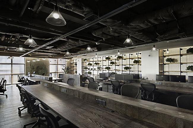 新中式办公室装修效果图高清图片