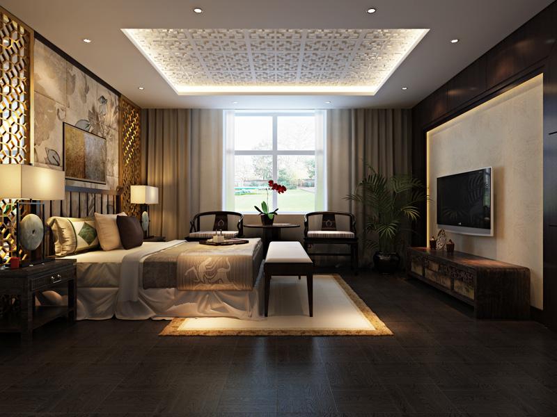 时尚经典新中式奢华别墅设计