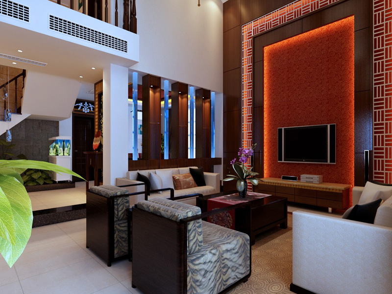 时尚而优雅-现代简约中式别墅设计