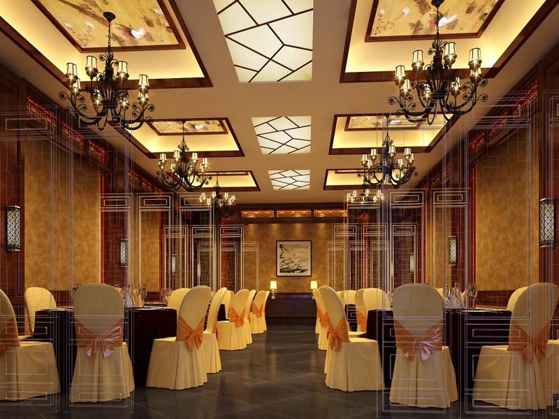 中式茶楼设计效果图图片