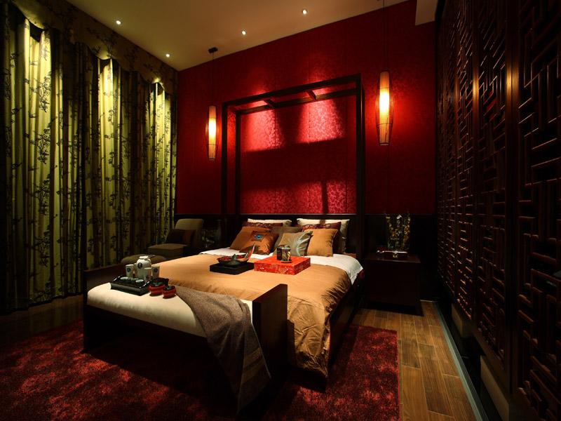 中式别墅设计卧室设计效果图