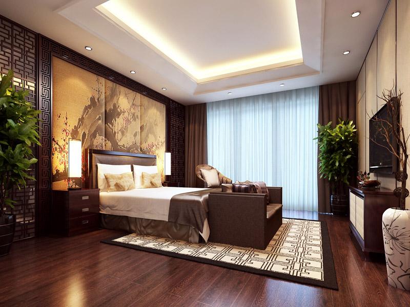 现代中式设计卧室