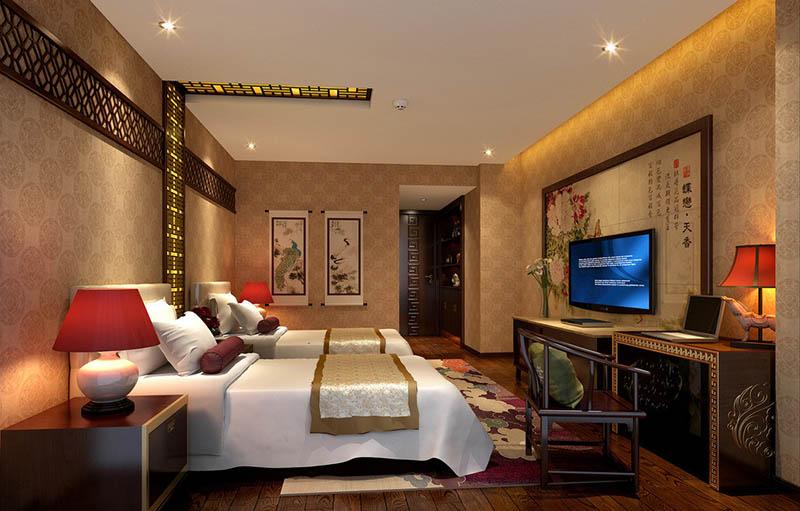 房间木雕效果图
