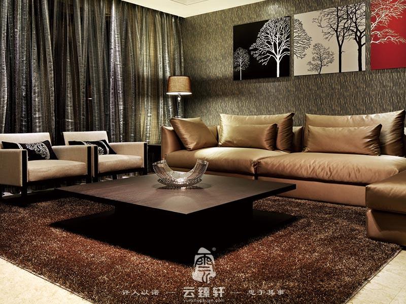 白欧式黑沙发装修风格图片