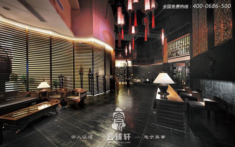 新中式娅太水疗会所装修效果图_北京云臻轩中式设计