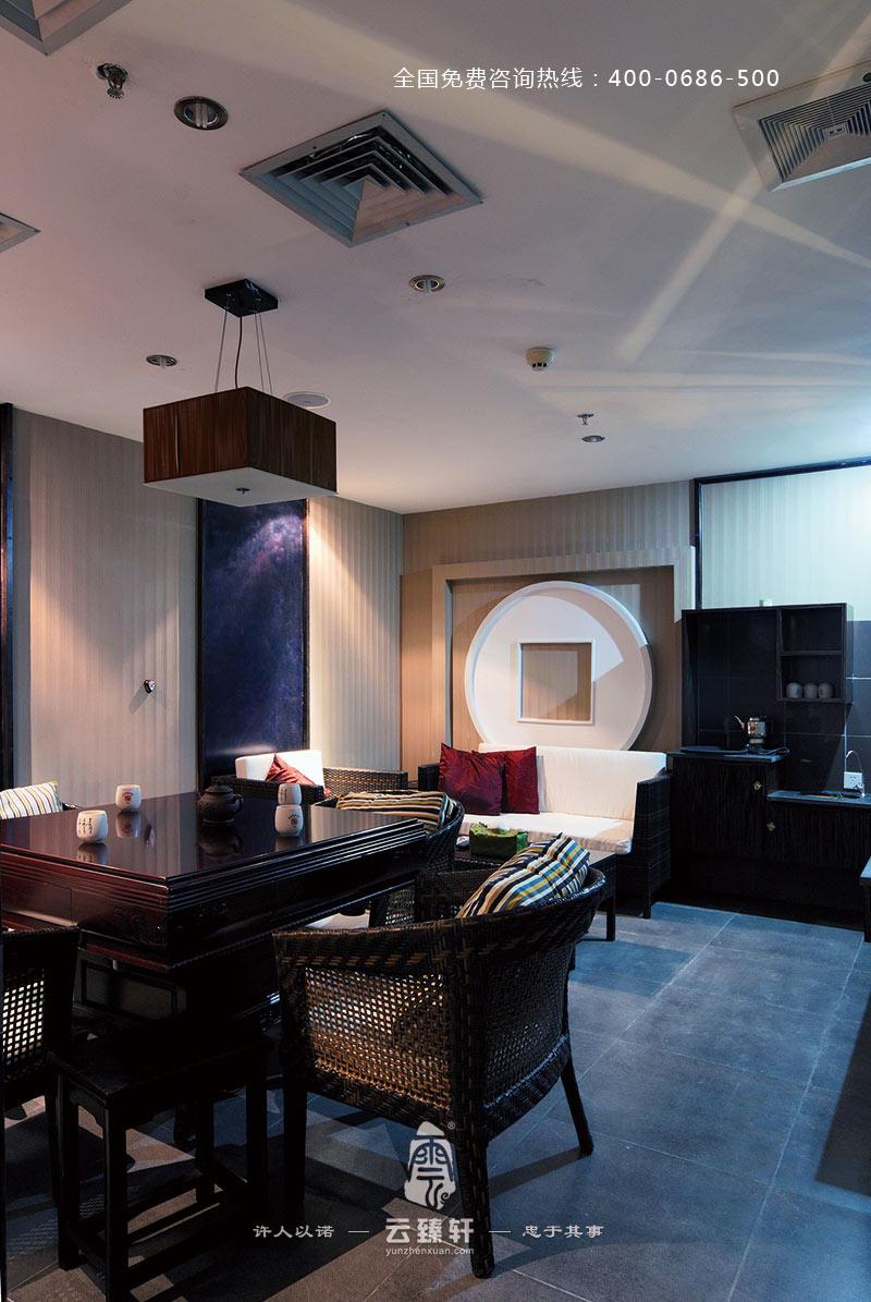 厦门时尚简约的新中式休闲茶馆装修效果图高清图片