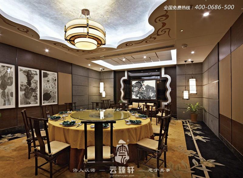 中式豪华气派餐厅包间装修效果