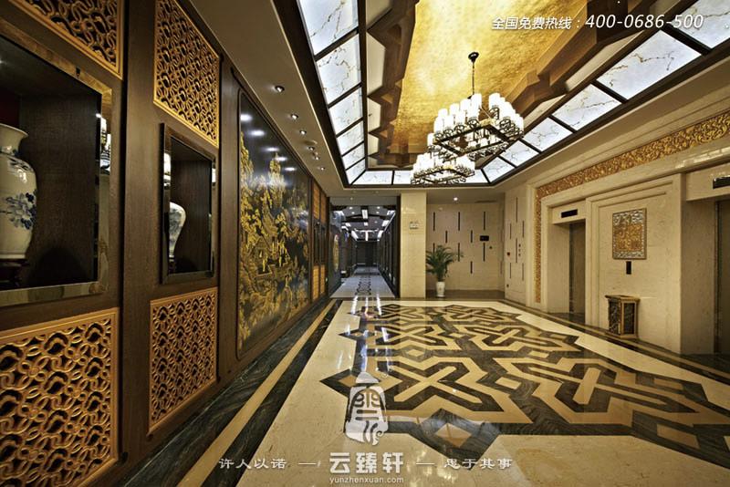 中式餐厅走廊的装修效果