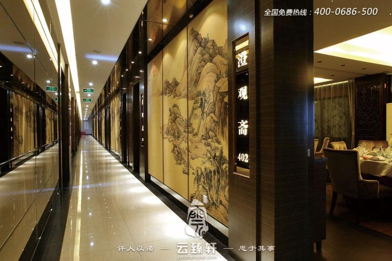 中餐厅的过道装修效果图