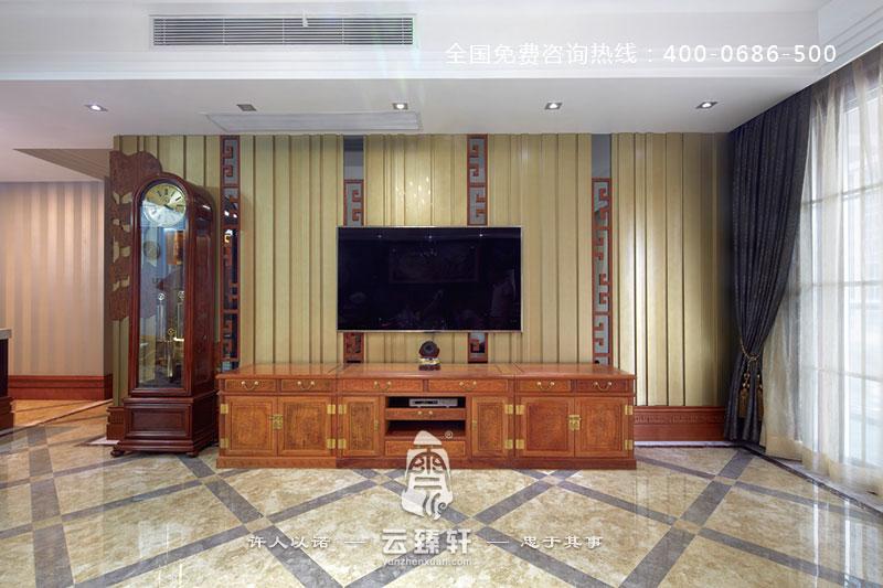 古典中式设计电视背景墙的装修