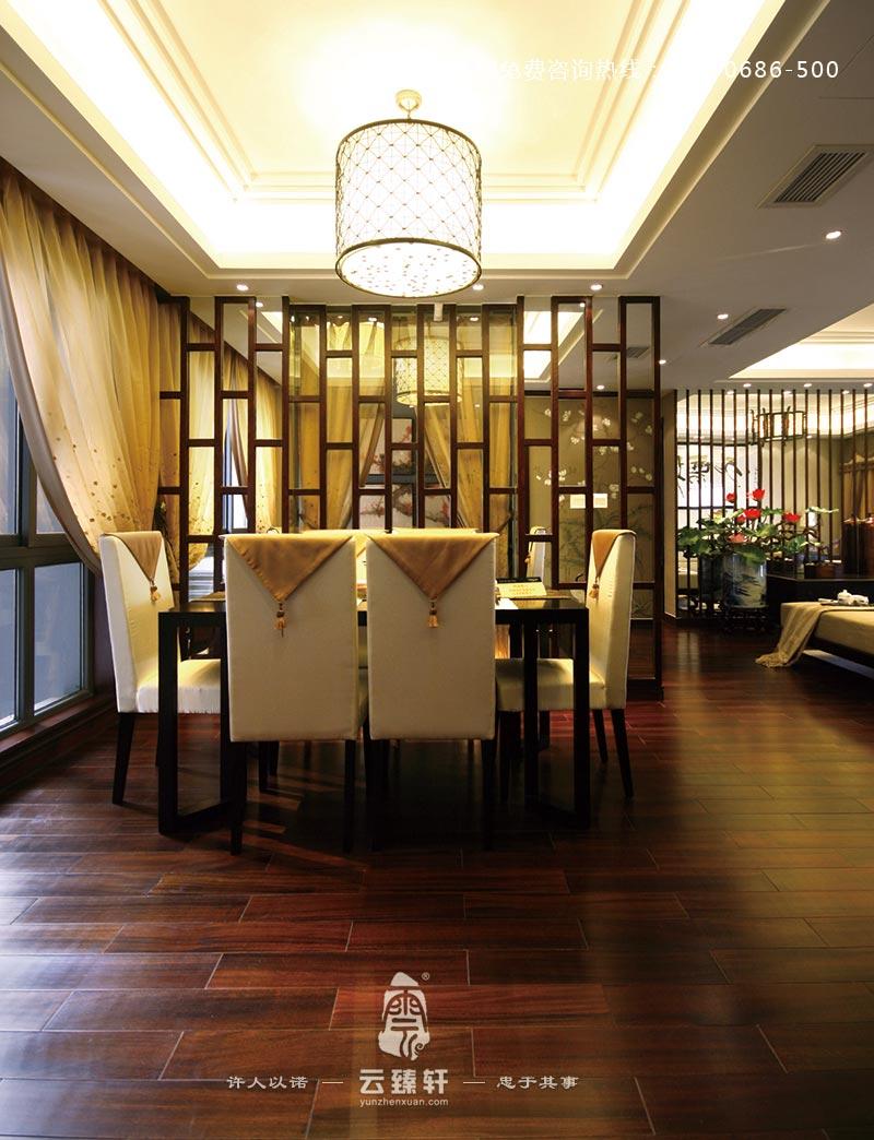 新中式餐厅装修效果