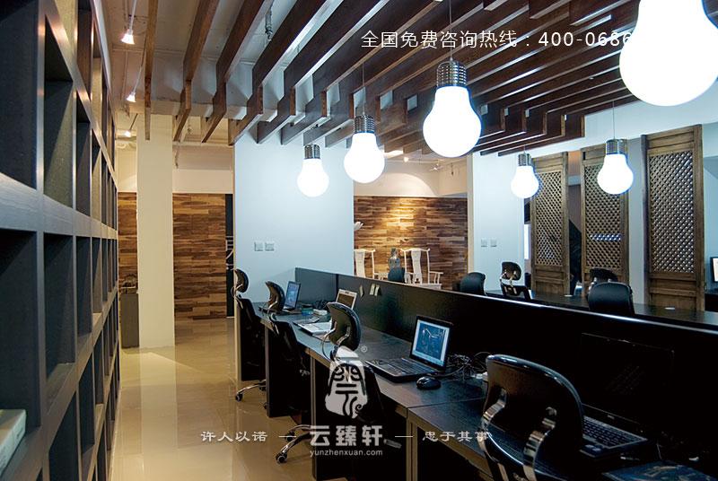 石家庄240平中式办公室设计案例