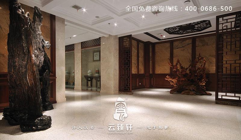 高贵的中式风格办公室装修效果图