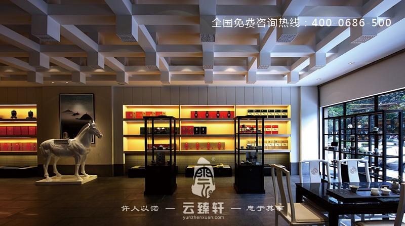 茶文化文化展厅设计手绘效果图