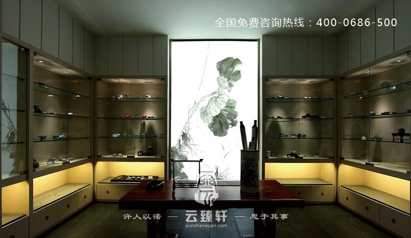 福州中式设计的茶文化展示厅效果图