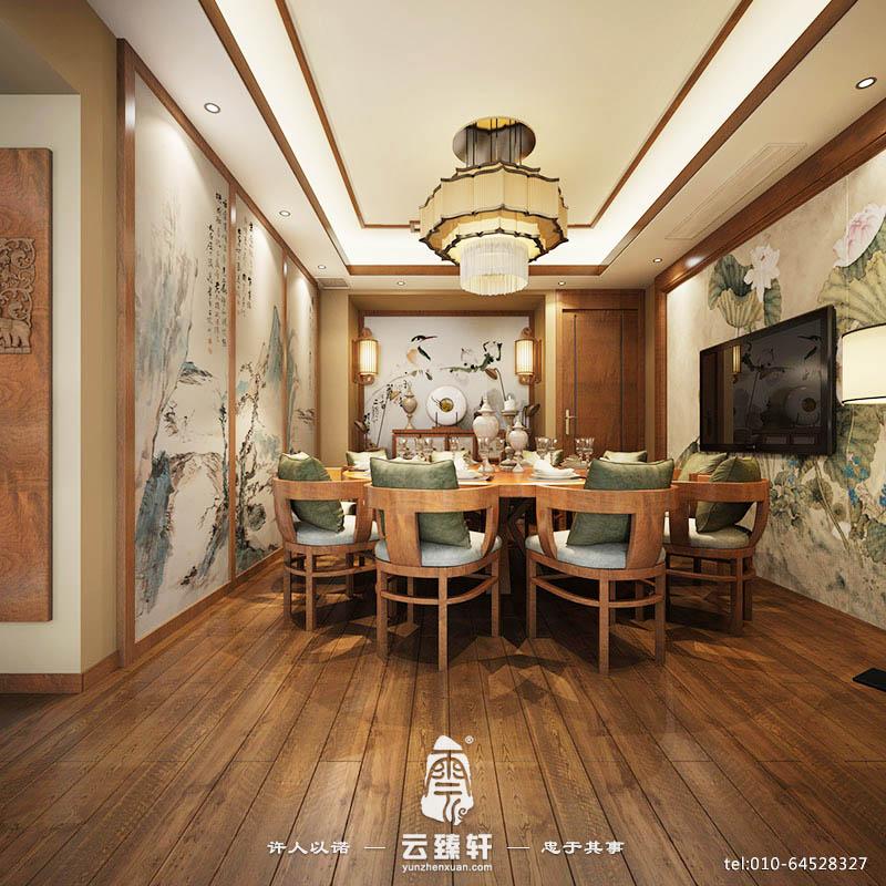 中式风格字画装饰电视背景墙装修效果图图片