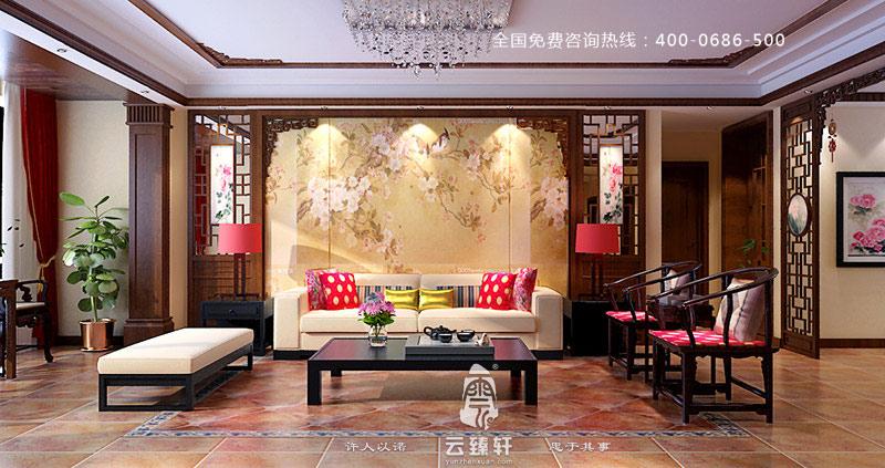 附有书香气息的中式客厅装修效果图图片