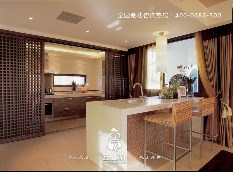 2016半开放式的简约中式厨房装修效果图