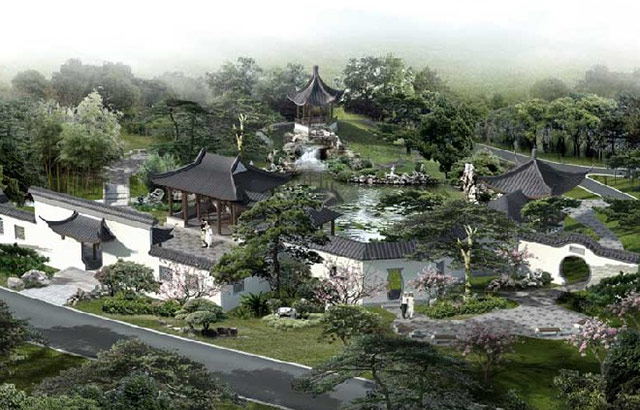 中式建筑设计苏州园林的布局