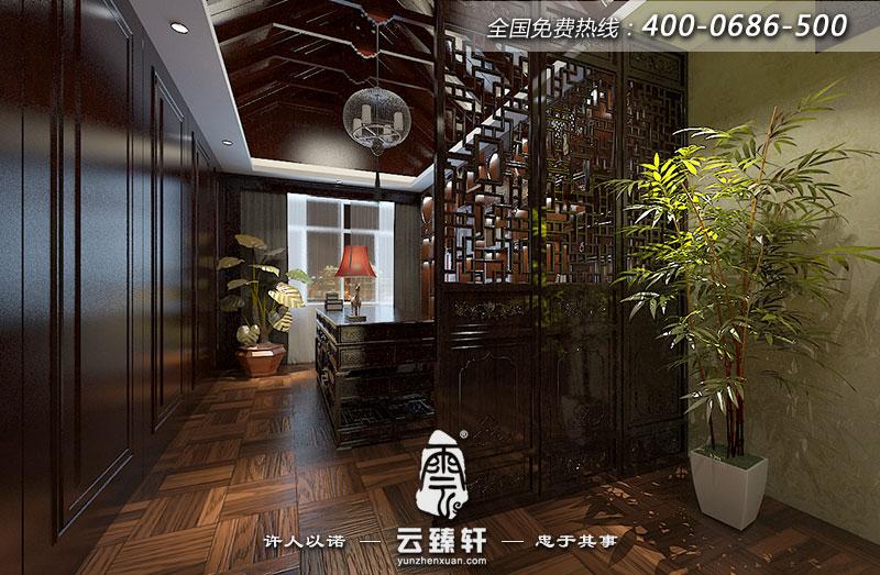 西安曲江公馆别墅中式装修效果图