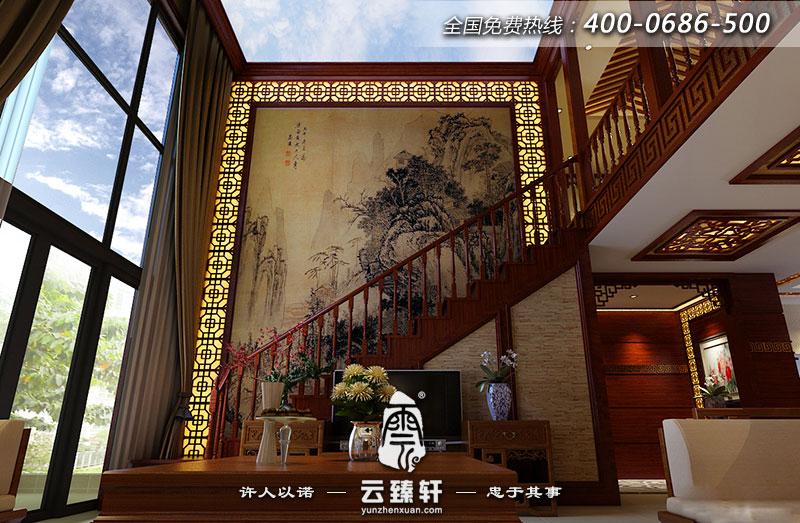装修具中国别墅的别墅中式打造风情澄湖图片