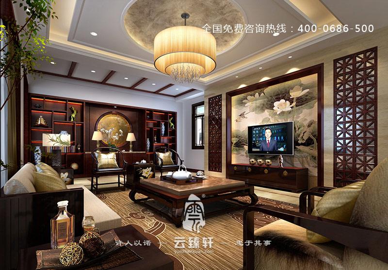 常熟自建中式别墅装修低调奢华_北京云臻轩中式设计