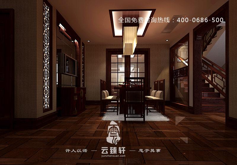 中式餐厅的装修效果图