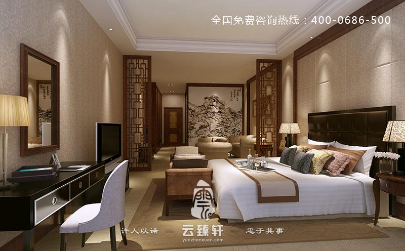 北京三居室极简中式风格装修案例