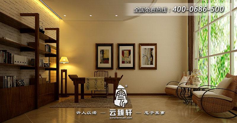 书房延续了现代与中式文化内涵的结合