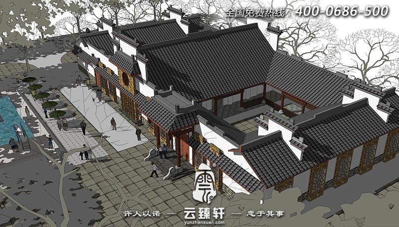 北京传统四合院中式设计