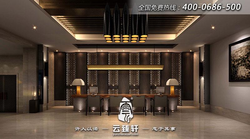山西中式禅意茶楼会所室内设计方案图片