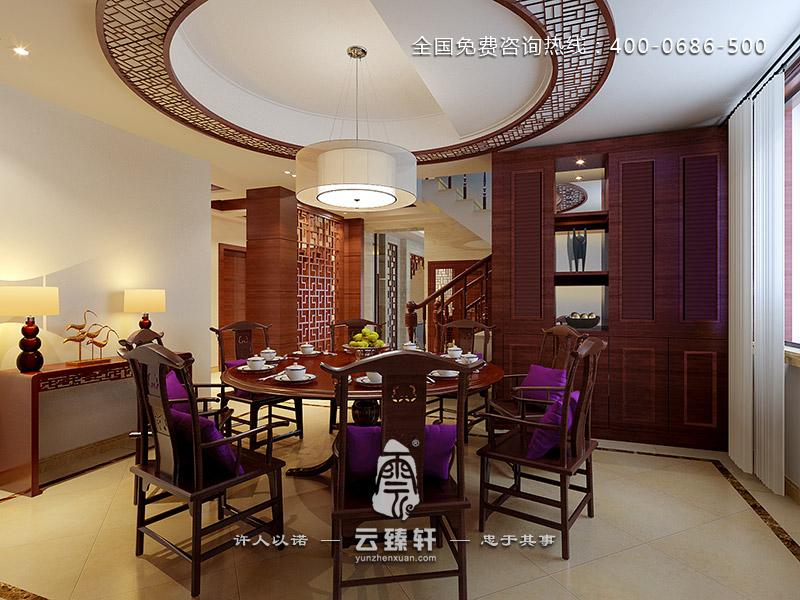 中式家居餐厅装修效果图