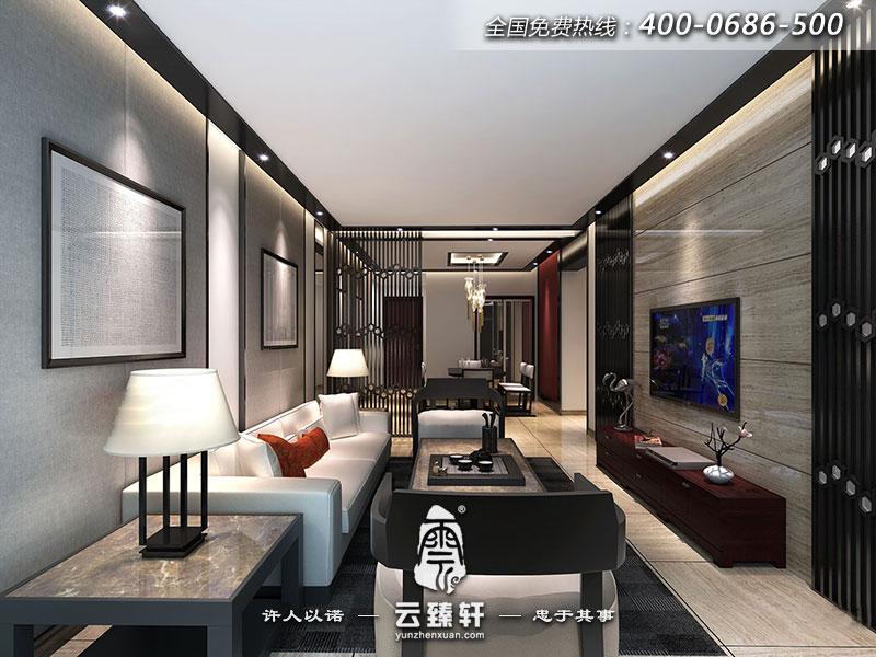 后现代中式客厅装修效果图_北京云臻轩中式设计机构