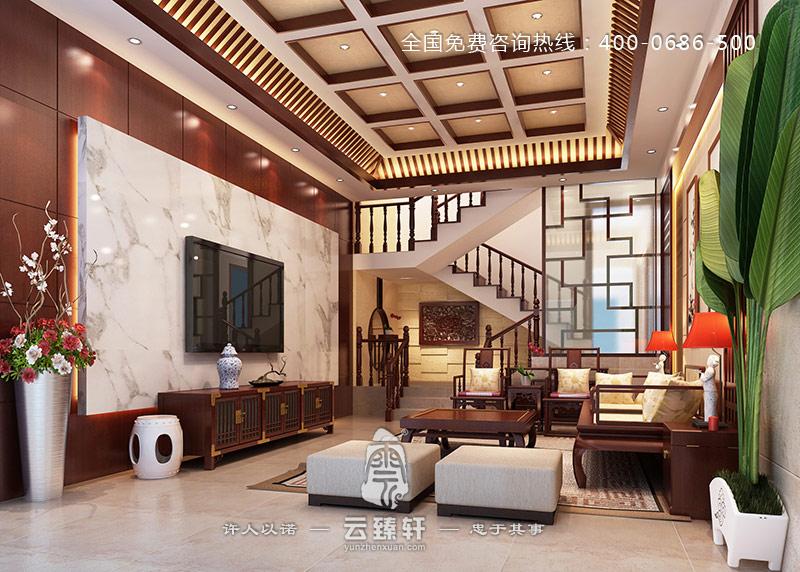 中式仿古客厅装修效果图
